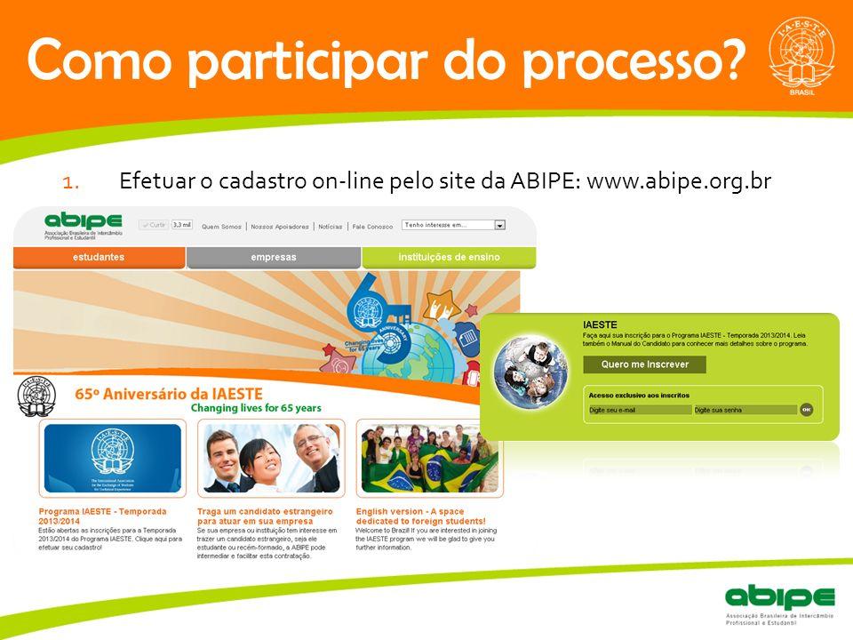 Quem é a ABIPE.Como participar do processo.