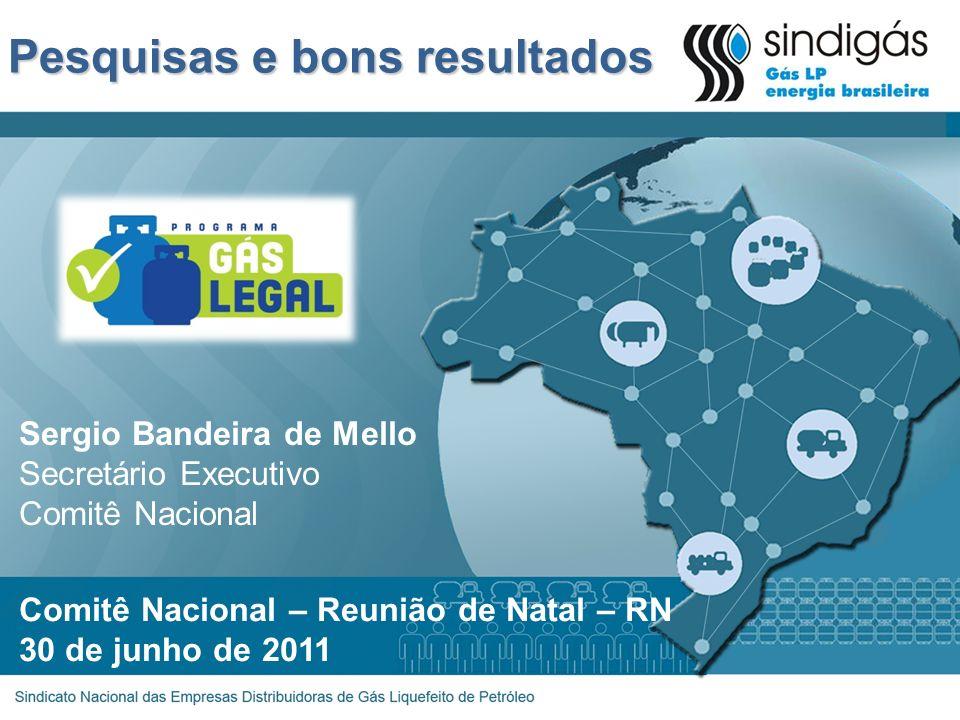 Pesquisas e bons resultados Comitê Nacional – Reunião de Natal – RN 30 de junho de 2011 Sergio Bandeira de Mello Secretário Executivo Comitê Nacional