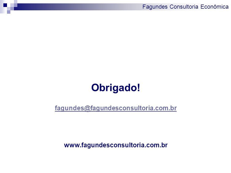 Fagundes Consultoria Econômica Obrigado! fagundes@fagundesconsultoria.com.br www.fagundesconsultoria.com.br