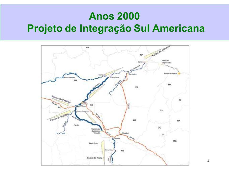 5 Corredor para escoamento da produção de commodities Área de influência direta: Mato Grosso, Rondônia, Amazonas e Acre.