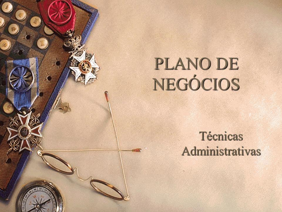 PLANO DE NEGÓCIOS Técnicas Administrativas