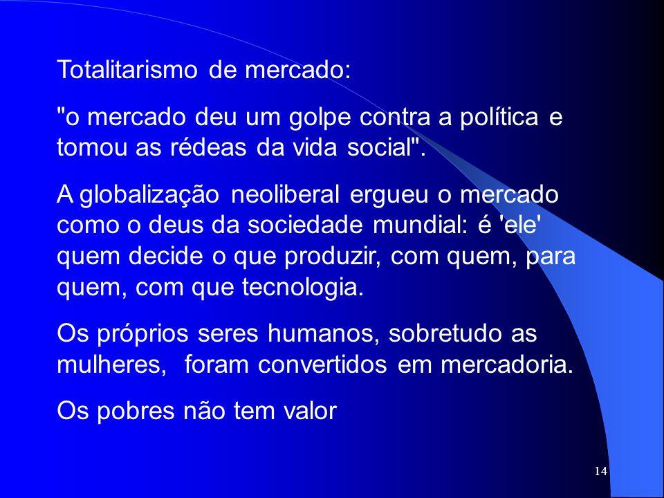 14 Totalitarismo de mercado: