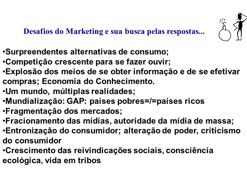 ORIENTAÇÃO DE MARKETING Equívocos:Marketing X Vendas Fonte: Administração de Marketing - P. Kotler.