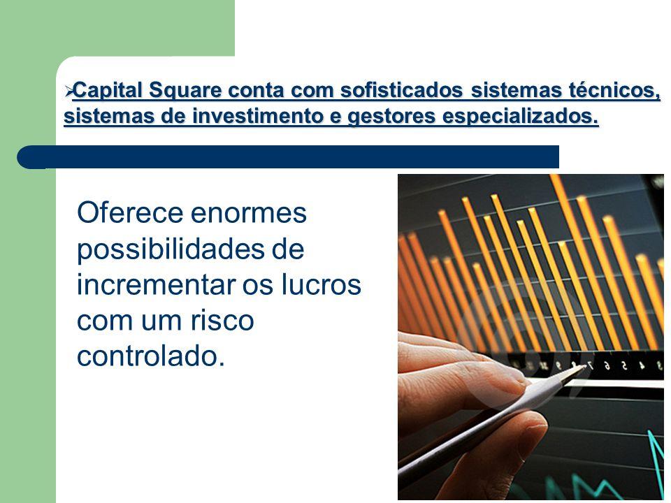 Capital Square conta com sofisticados sistemas técnicos, sistemas de investimento e gestores especializados. Capital Square conta com sofisticados sis