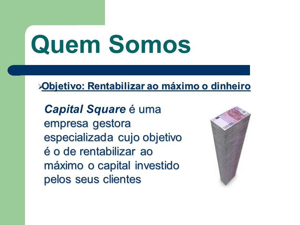 Mais rápido do que com outro tipo de investimentos Com Capital Square é possível fazer com que o dinheiro cresça de forma paulatina e constante, dentro de um prazo de tempo mais curto que a maioria dos investimentos existentes.
