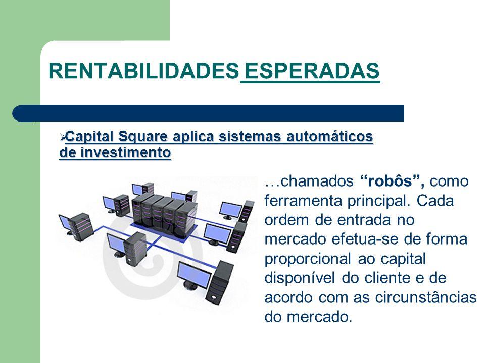 RENTABILIDADES ESPERADAS Capital Square aplica sistemas automáticos de investimento Capital Square aplica sistemas automáticos de investimento …chamad
