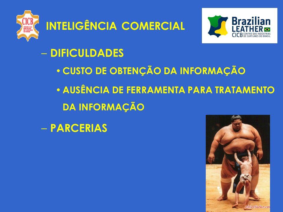 INTELIGÊNCIA COMERCIAL – DIFICULDADES CUSTO DE OBTENÇÃO DA INFORMAÇÃO AUSÊNCIA DE FERRAMENTA PARA TRATAMENTO DA INFORMAÇÃO – PARCERIAS