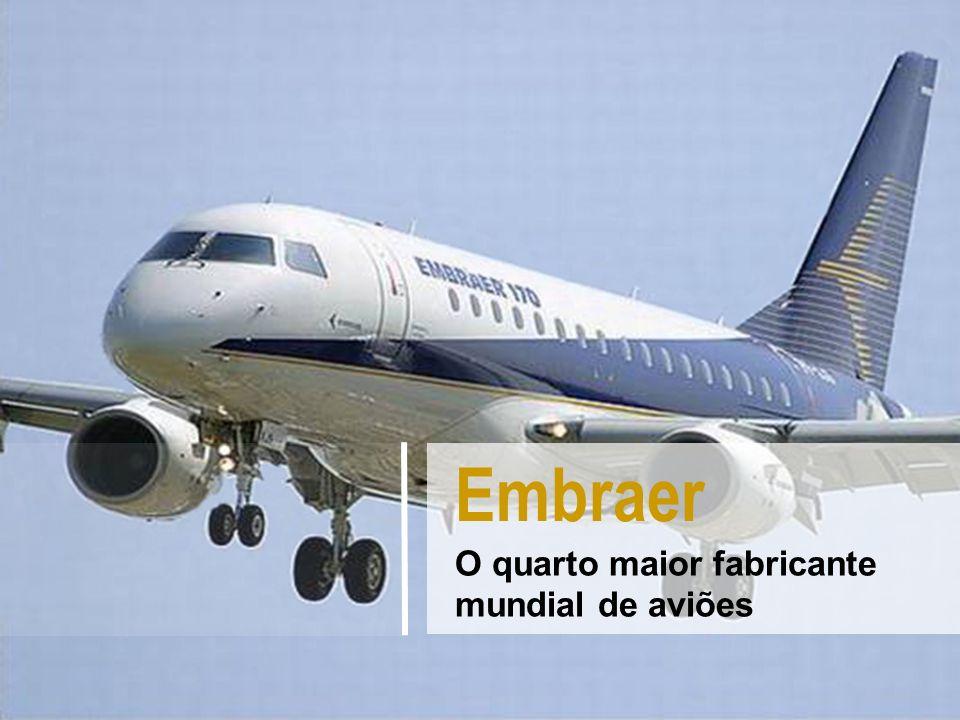 Embraer O quarto maior fabricante mundial de aviões