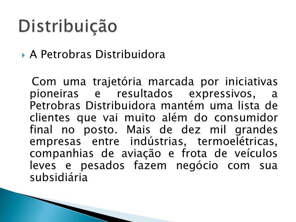 A Petrobras Distribuidora Com uma trajetória marcada por iniciativas pioneiras e resultados expressivos, a Petrobras Distribuidora mantém uma lista de