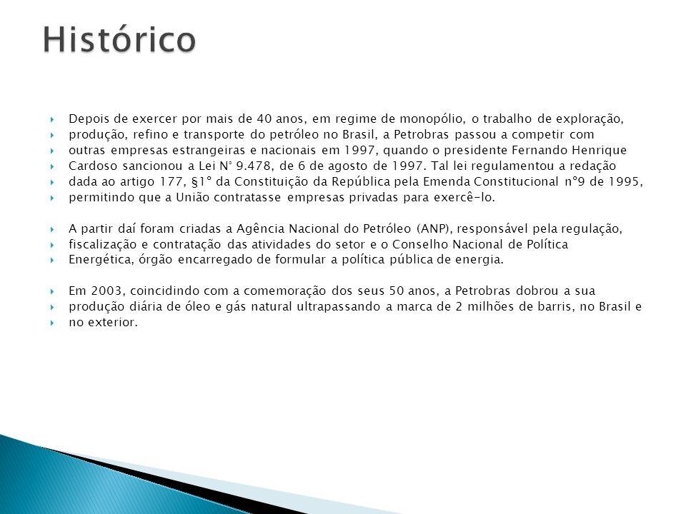Depois de exercer por mais de 40 anos, em regime de monopólio, o trabalho de exploração, produção, refino e transporte do petróleo no Brasil, a Petrob
