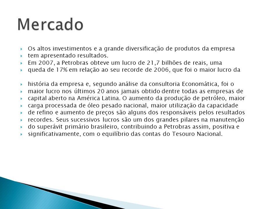 Os altos investimentos e a grande diversificação de produtos da empresa tem apresentado resultados. Em 2007, a Petrobras obteve um lucro de 21,7 bilhõ