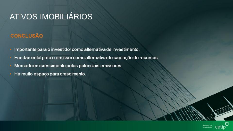 ATIVOS IMOBILIÁRIOS Importante para o investidor como alternativa de investimento.