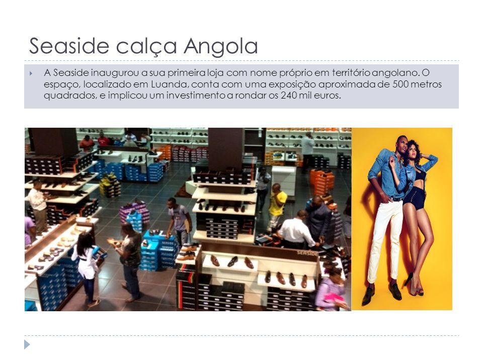Seaside calça Angola A Seaside inaugurou a sua primeira loja com nome próprio em território angolano. O espaço, localizado em Luanda, conta com uma ex