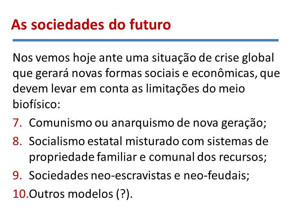 1. Comunismo primitivo Como funcionam esses modelos? Cadeias tróficas