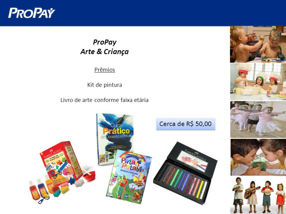 ProPay Arte & Criança Prêmios Kit de pintura Livro de arte conforme faixa etária Cerca de R$ 50,00