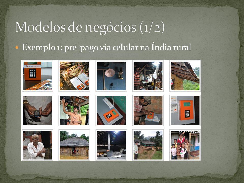 Exemplo 1: pré-pago via celular na Índia rural