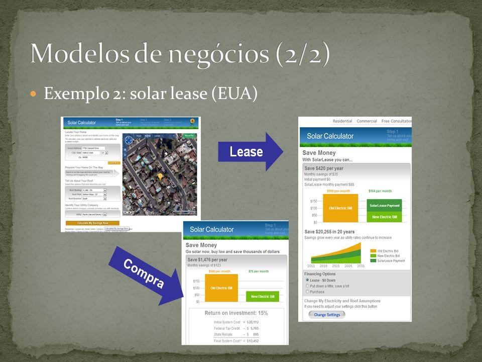 Exemplo 2: solar lease (EUA)