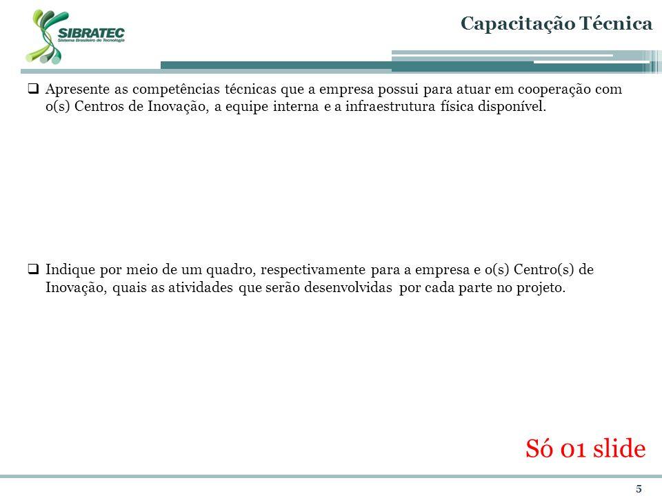 6 Resultados Esperados Explicite os impactos dos mesmos para a competitividade da empresa.