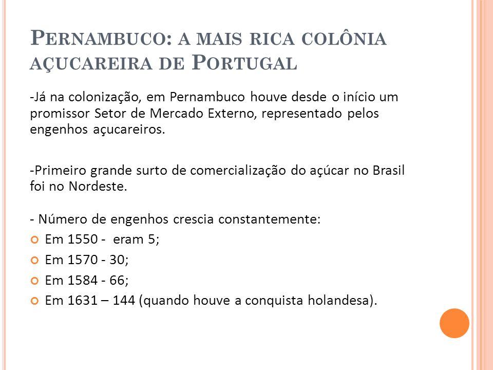 A LGUMAS CARACTERÍSTICAS DA R EVOLUÇÃO I NDUSTRIAL EM P ERNAMBUCO -Na Revolução industrial do açúcar as usinas tinham fome de terra .