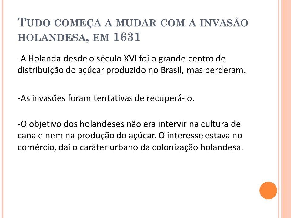 I NFERIORIDADE DO N ORDESTE FACE À PRODUÇÃO DO C ENTRO -S UL -A indústria passa a ter foco no mercado interno, cai as importações, o que provoca queda do movimento comercial da cidade, com consequências negativas para o crescimento do Recife.