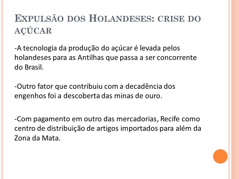 C OM EXPULSÃO DOS H OLANDESES, O LINDA É RECONSTRUÍDA - Com a expulsão dos holandeses, Olinda é reconstruída tornando o centro da aristocracia rural e a capital da Capitania.