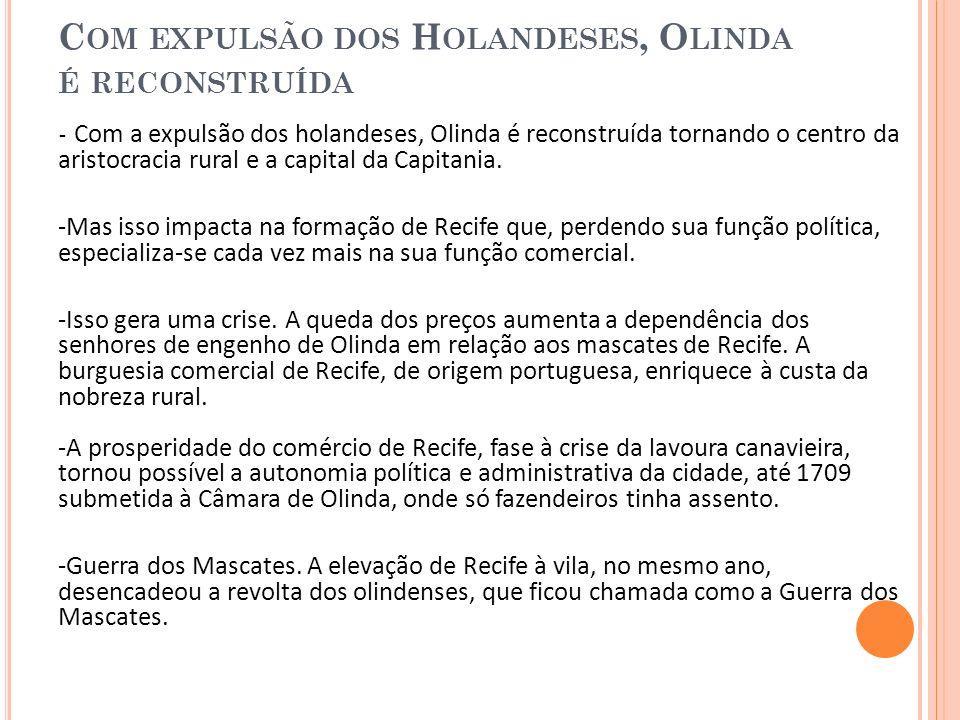 C OM A CRISE, R ECIFE CRESCE SEM DESENVOLVIMENTO - Recife não deixou de crescer.