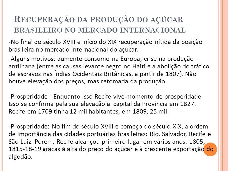 I NCHAÇÃO DO R ECIFE E A DECOMPOSIÇÃO DO COMPLEXO RURAL - O crescimento de Recife resulta principalmente pelo êxodo rural.
