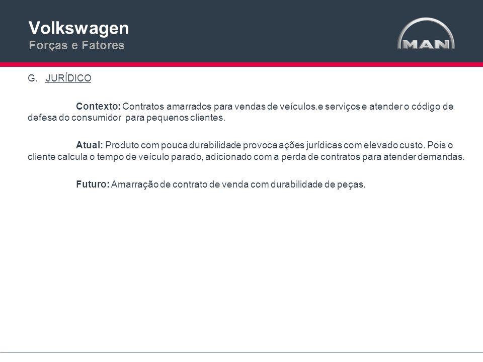 Volkswagen Forças e Fatores G.JURÍDICO Contexto: Contratos amarrados para vendas de veículos.e serviços e atender o código de defesa do consumidor par