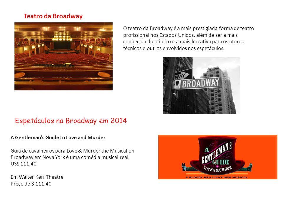 O teatro da Broadway é a mais prestigiada forma de teatro profissional nos Estados Unidos, além de ser a mais conhecida do público e a mais lucrativa