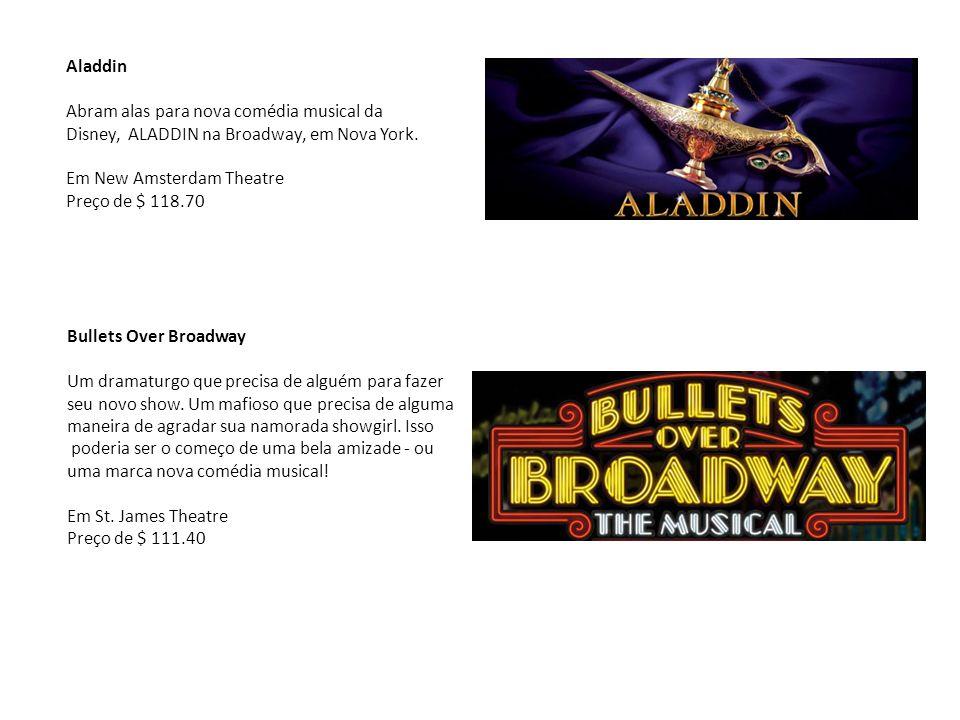 Aladdin Abram alas para nova comédia musical da Disney, ALADDIN na Broadway, em Nova York. Em New Amsterdam Theatre Preço de $ 118.70 Bullets Over Bro