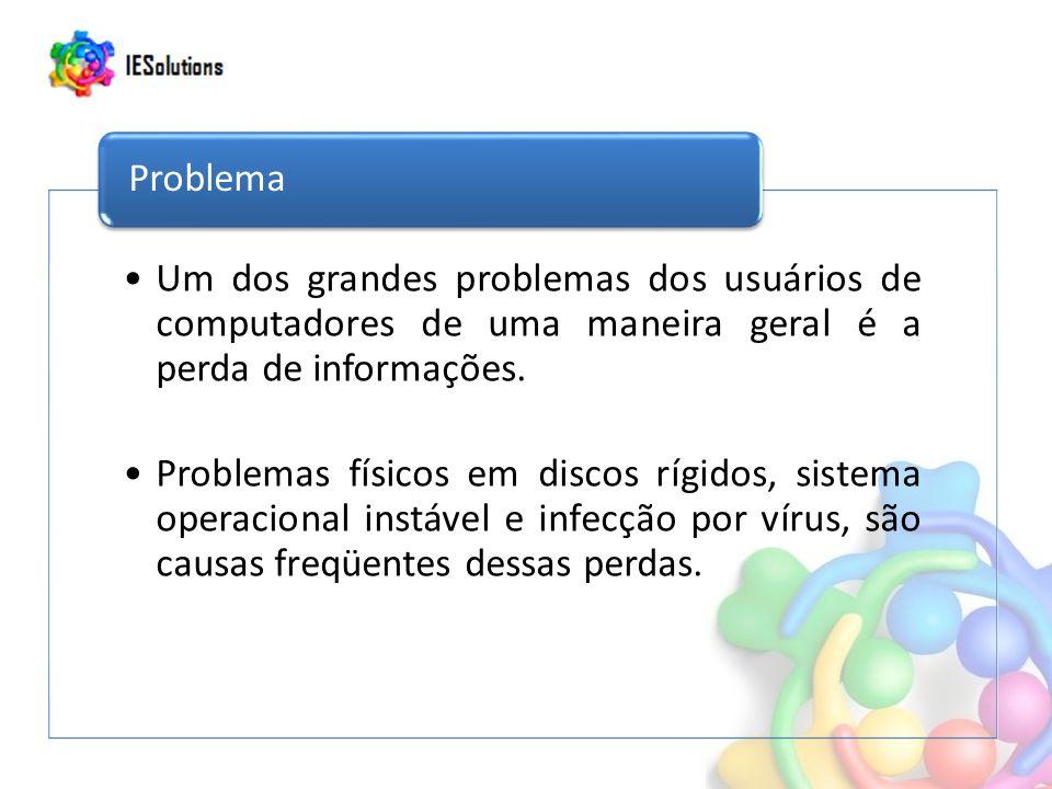 Um dos grandes problemas dos usuários de computadores de uma maneira geral é a perda de informações.