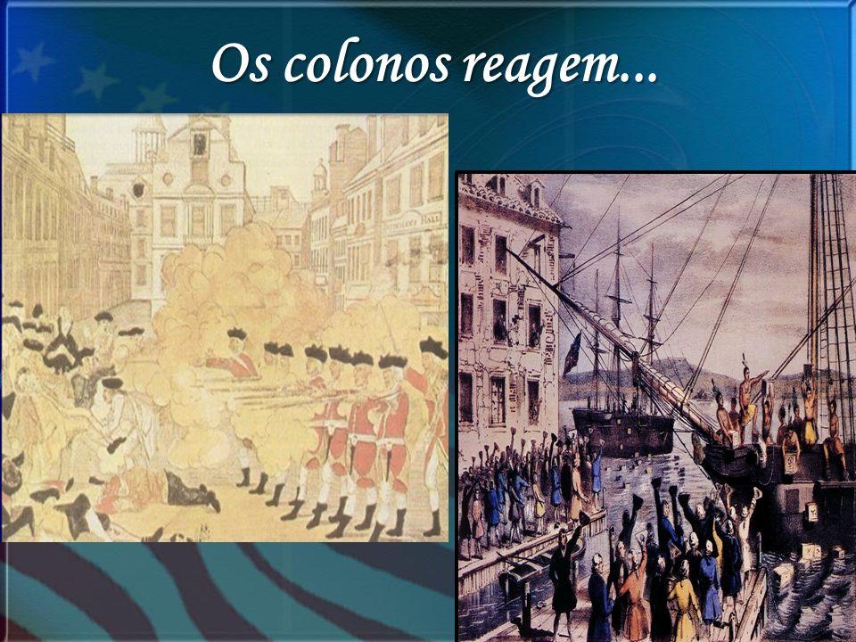 Os colonos reagem...