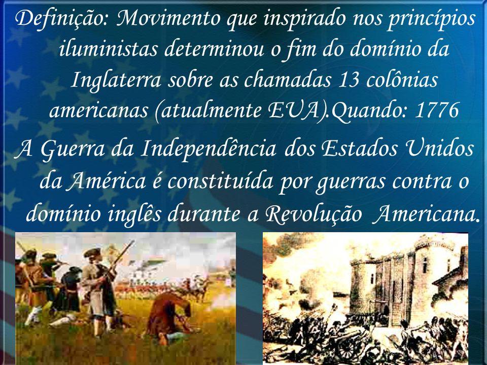 Guerra de Secessão A Guerra de Secessão foi um conflito militar que ocorreu nos Estados Unidos, entre os anos de 1861 e 1865.