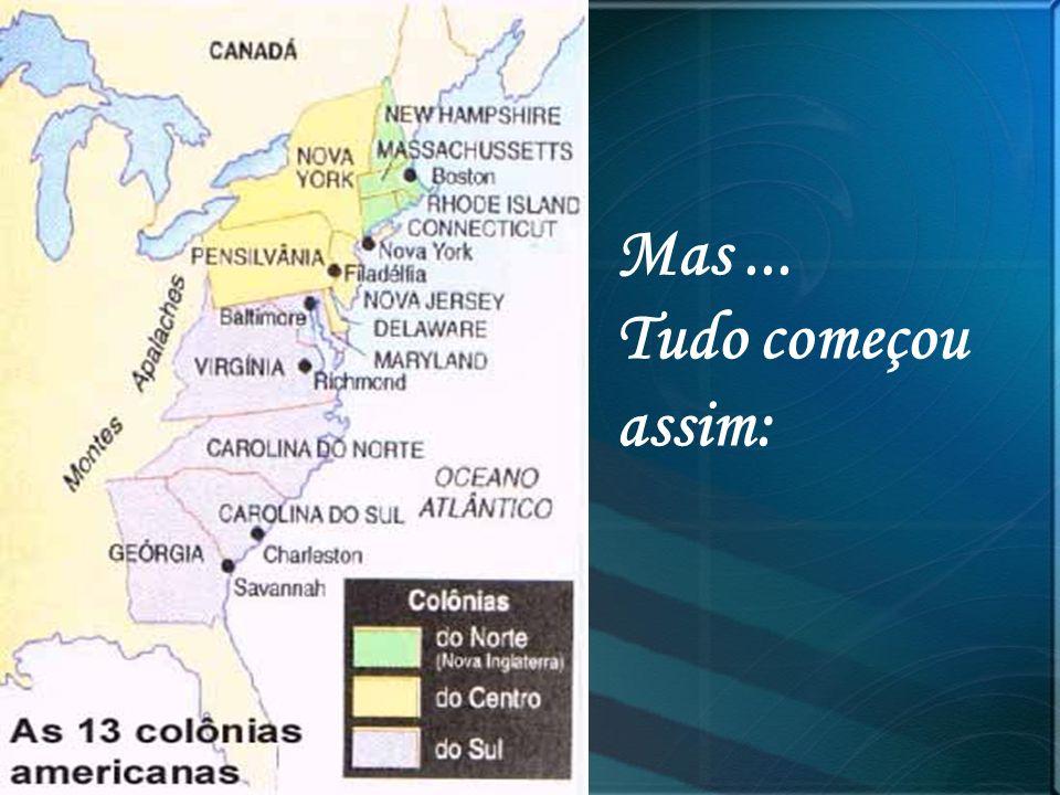 Guerra O conflito teve início em 1861 através de ações militares do sul.