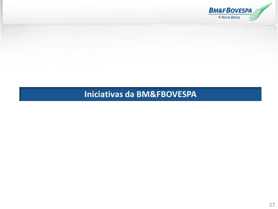 27 Iniciativas da BM&FBOVESPA