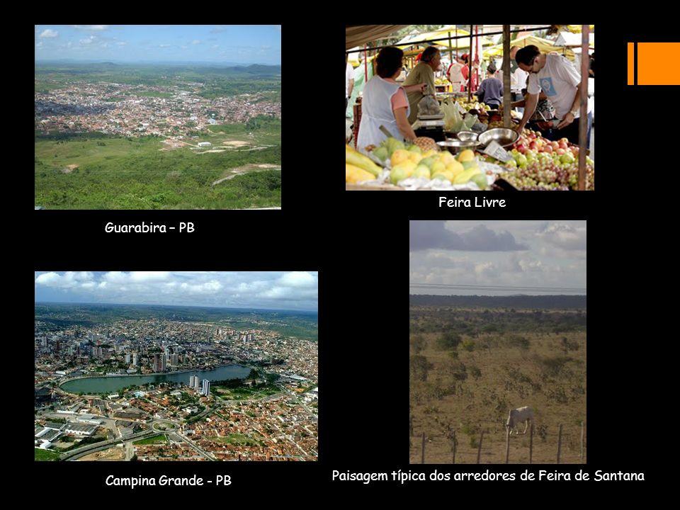 Feira Livre Guarabira – PB Campina Grande - PB Paisagem típica dos arredores de Feira de Santana