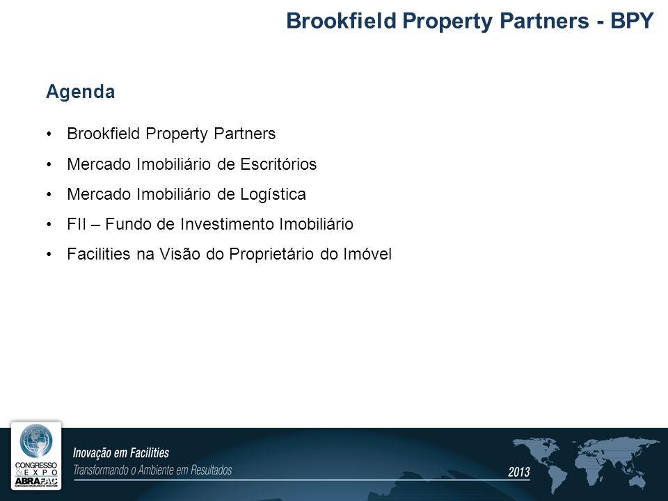 Agenda Brookfield Property Partners Mercado Imobiliário de Escritórios Mercado Imobiliário de Logística FII – Fundo de Investimento Imobiliário Facili