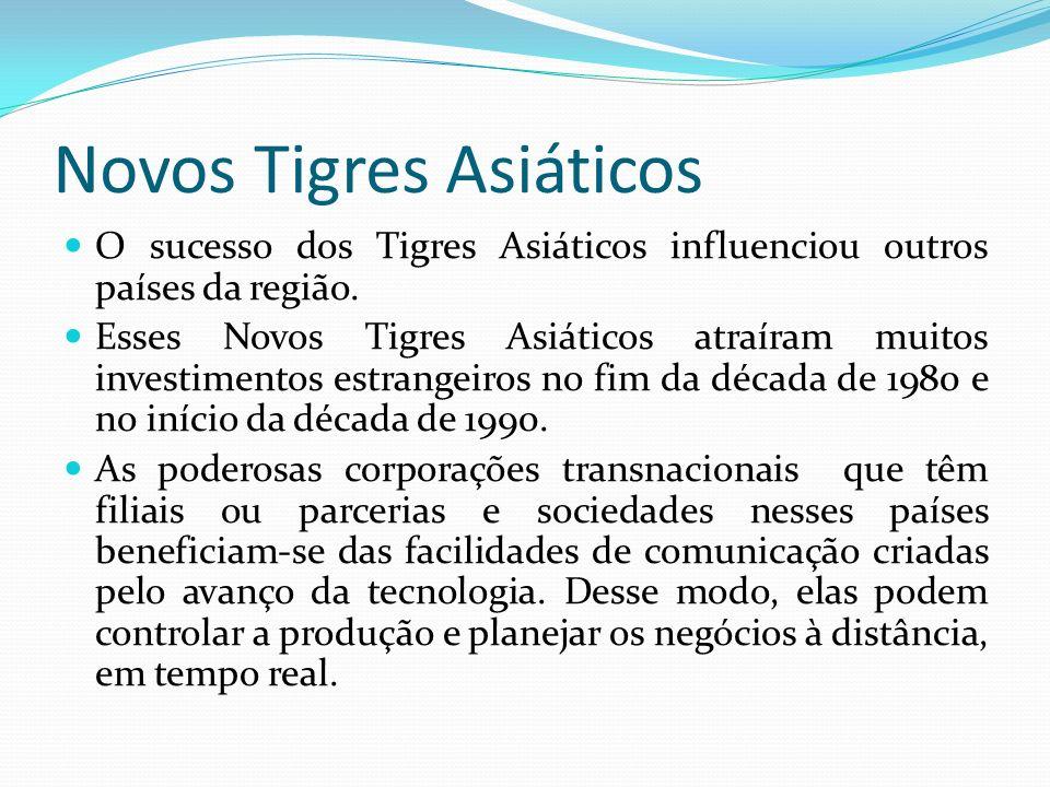 Novos Tigres Asiáticos Ficaram conhecidos como os novos Tigres Asiáticos.