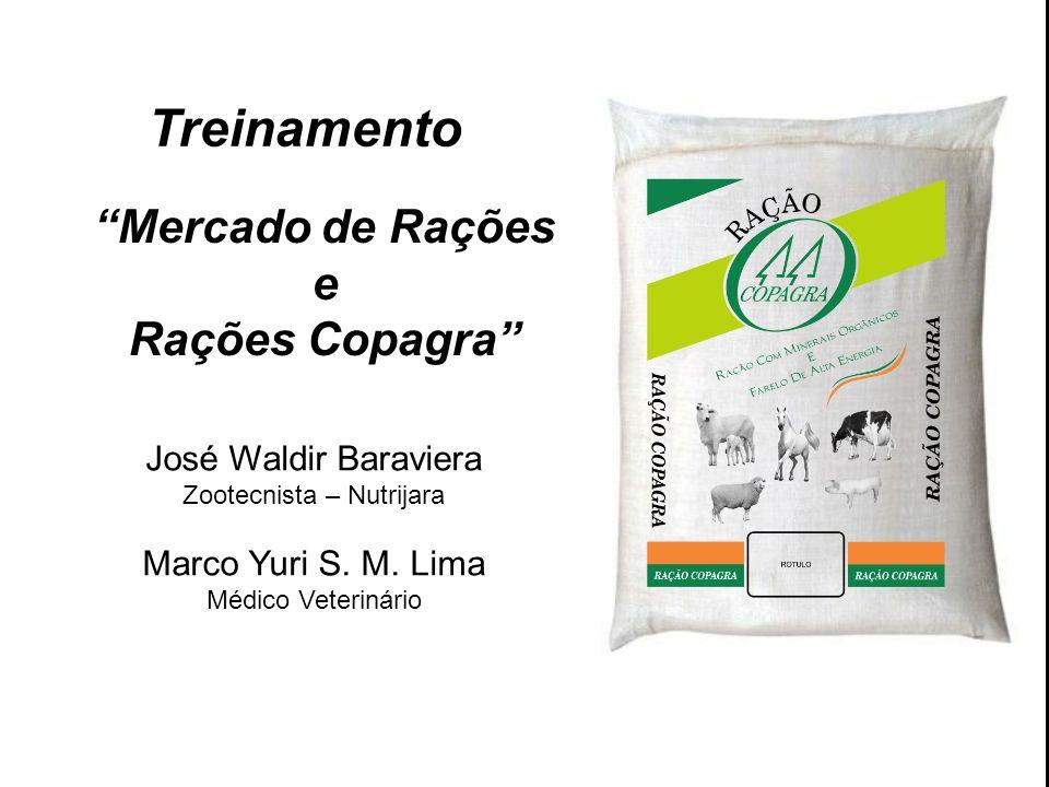 Treinamento Mercado de Rações e Rações Copagra José Waldir Baraviera Zootecnista – Nutrijara Marco Yuri S. M. Lima Médico Veterinário