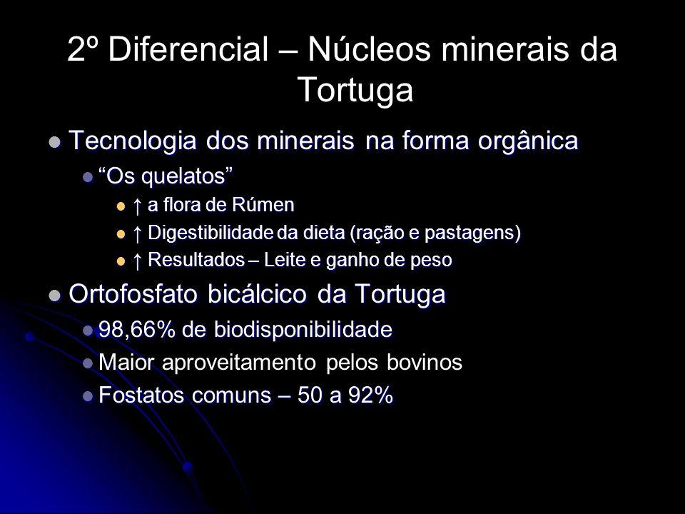 2º Diferencial – Núcleos minerais da Tortuga Tecnologia dos minerais na forma orgânica Tecnologia dos minerais na forma orgânica Os quelatos Os quelat