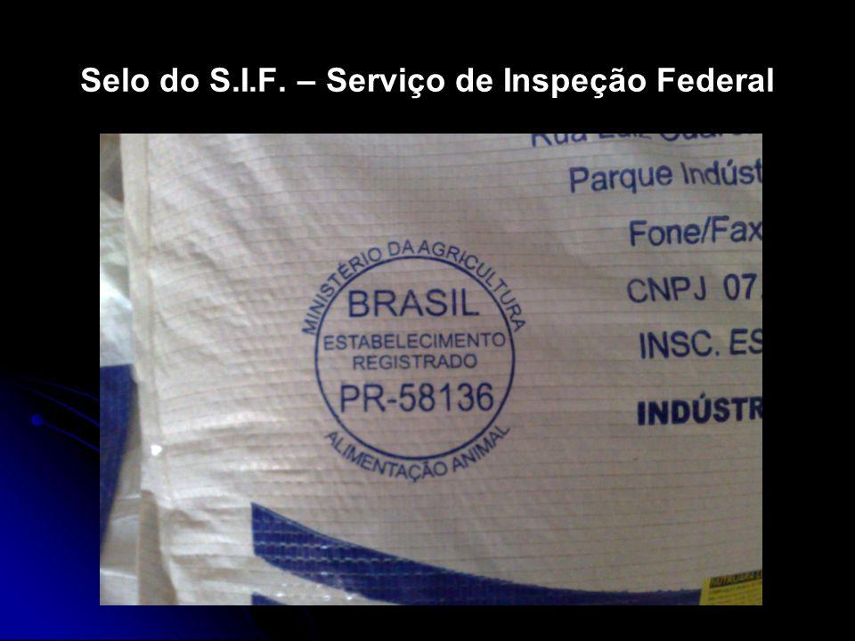 Selo do S.I.F. – Serviço de Inspeção Federal