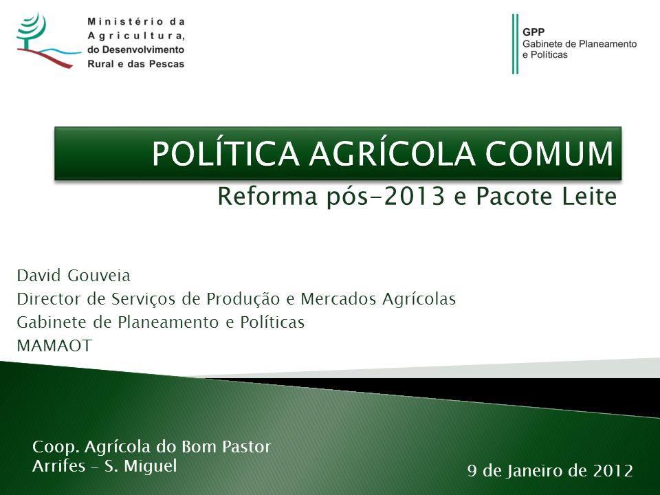 Reforma pós-2013 e Pacote Leite 9 de Janeiro de 2012 Coop.