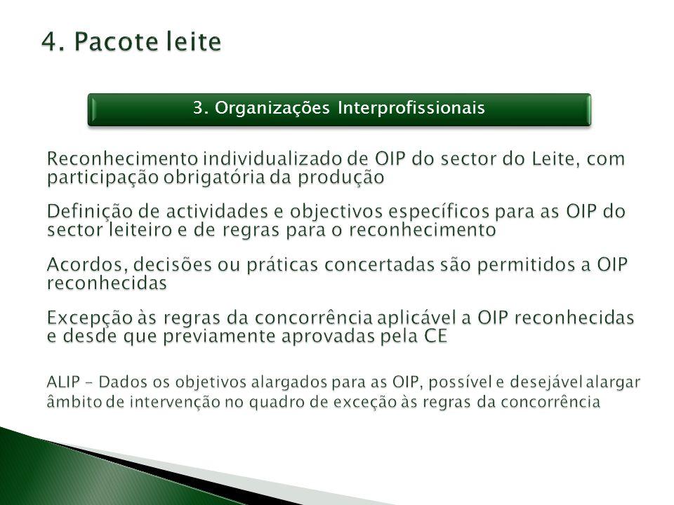 3. Organizações Interprofissionais
