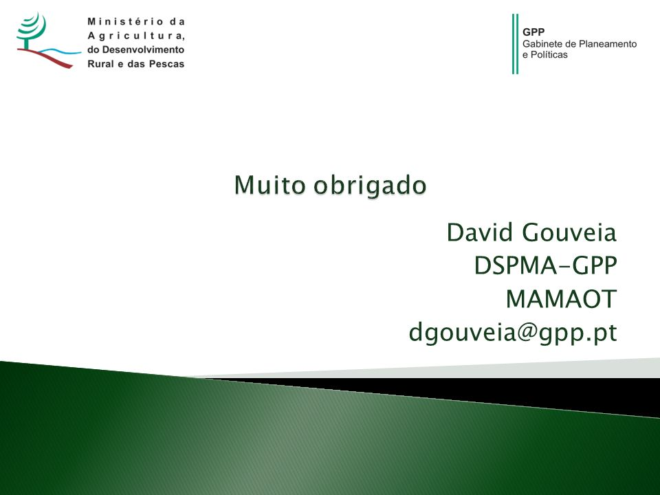 David Gouveia DSPMA-GPP MAMAOT dgouveia@gpp.pt