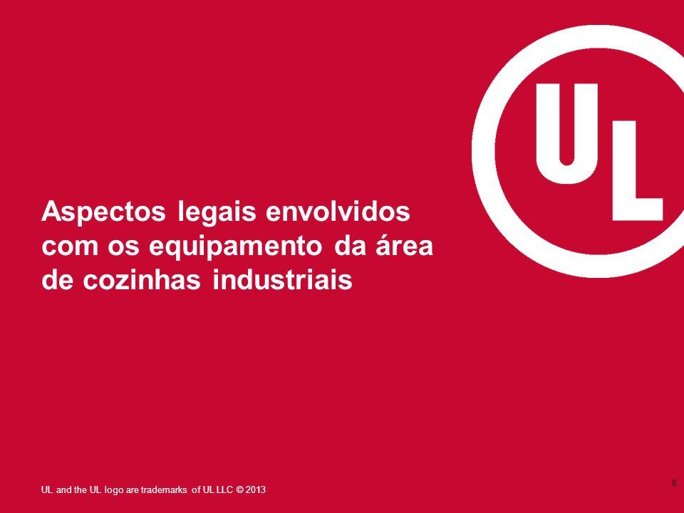 UL and the UL logo are trademarks of UL LLC © 2013 Aspectos legais envolvidos com os equipamento da área de cozinhas industriais 8