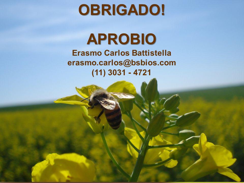 OBRIGADO!APROBIO Erasmo Carlos Battistella erasmo.carlos@bsbios.com (11) 3031 - 4721
