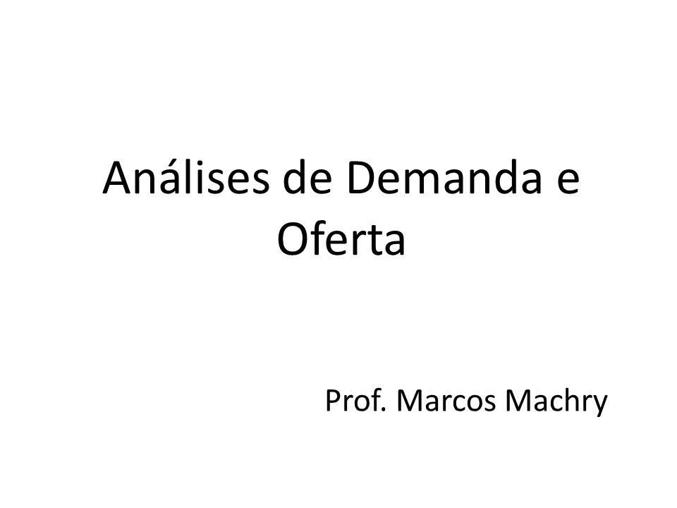 Análises de Demanda e Oferta Prof. Marcos Machry