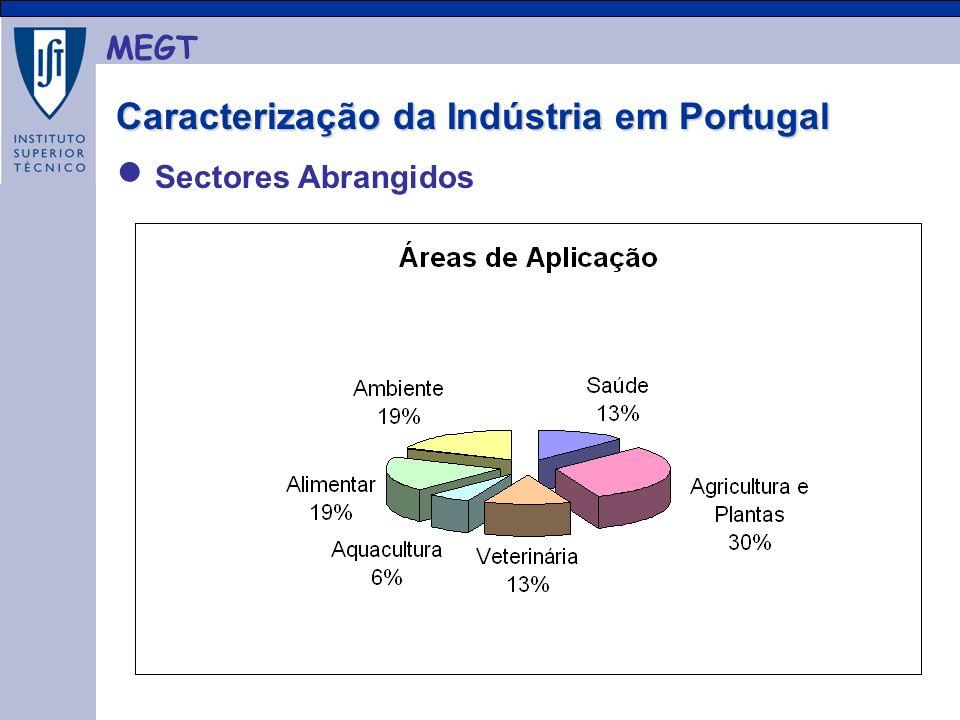 MEGT Caracterização da Indústria em Portugal Caracterização da Indústria em Portugal Sectores Abrangidos