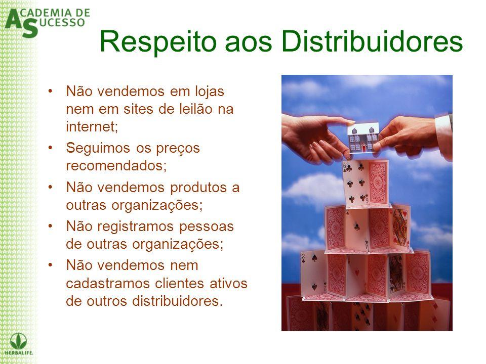 Respeito aos Distribuidores Não vendemos em lojas nem em sites de leilão na internet; Seguimos os preços recomendados; Não vendemos produtos a outras