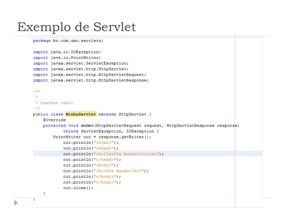 Exemplo de Servlet
